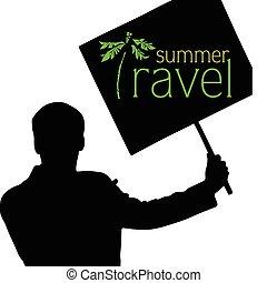 estate, viaggiare, vettore, illustrazione