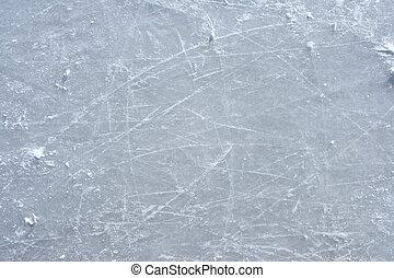 esterno, pattino da ghiaccio, superficie, rink, contrassegni