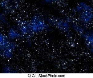esterno, stelle, spazio