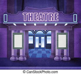 esterno, teatro