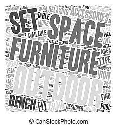 esterno, testo, wordcloud, concetto, fondo, mobilia