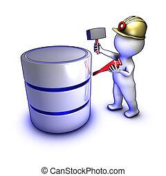 estrarre, dati, concetto, carattere, database