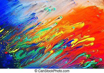 estrarre dipingere, acrilico, colorito