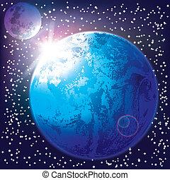 estratto terra, fondo, luna