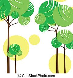 estratto verde, albero, primavera