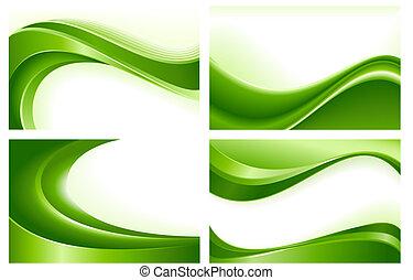 estratto verde, sfondi, 4, onda