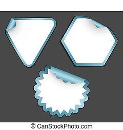 etichette, bianco, adesivi