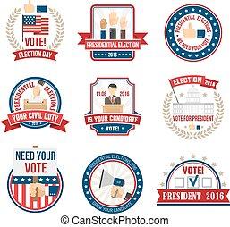 etichette, elezione, presidenziale