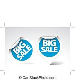 etichette, rotondo, grande, adesivi, /, vendita