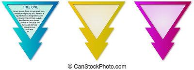 etichette, triangolo