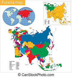 eurasia, mappa