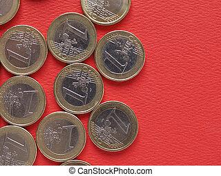 euro, europeo, comune, monete, unione, lato, 1