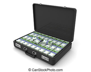 euro., valigia, 3d