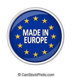 europa, bottone, fatto, -