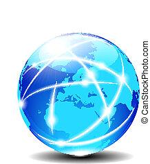 europa, comunicazione, globale, pianeta