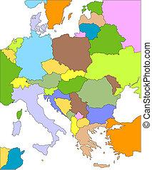 europa, orientale, editable, paesi
