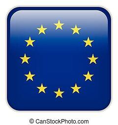 europa, smartphone, bottoni, domanda, bandiera, quadrato