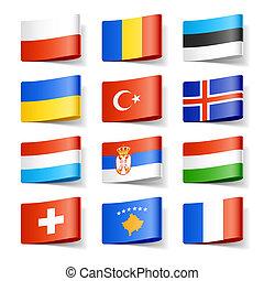 europe., flags., mondo