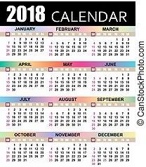 europeo, 2018, calendario