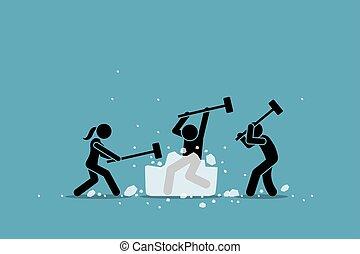 event., rottura, ghiaccio, gioco, icebreaker, attività, o