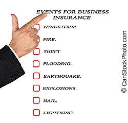 eventi, assicurazione affari