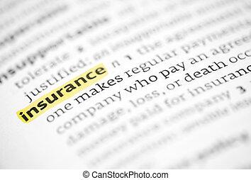 evidenziato, parola, assicurazione
