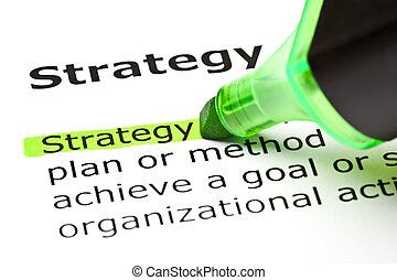 evidenziato, 'strategy', verde