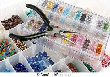 fabbricazione, perline, gioielleria