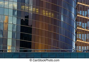 facade costruzione, grattacielo, ufficio