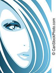 faccia blu