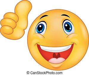 faccia felice, cartone animato, smiley, emoticon