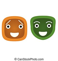 faccia felice, smiley, icone