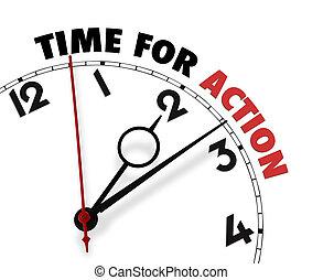 faccia orologio, parole, tempo, azione, bianco, relativo