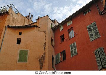 facciata, casa, residenziale