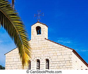 facciata, moltiplicazione, chiesa, tabgha