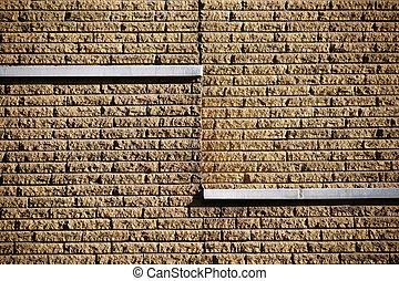 facciata, pietra, ruvido, fallimento