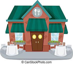 facciata, ristorante