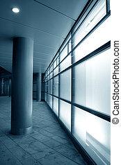 facciata, vetro, bianco