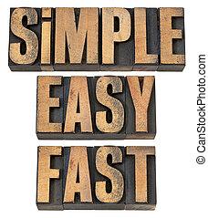 facile, digiuno, semplice, legno, tipo
