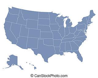 facilmente, strato, unito, mappa, edited, così, stati, stato, vettore, lattina, ciascuno, essere, america, seperate