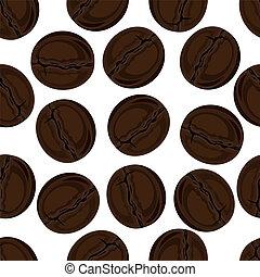 fagioli caffè, seamless, texture.