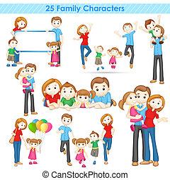 famiglia, collezione, 3d