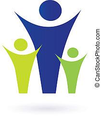 famiglia, comunità, pictogram