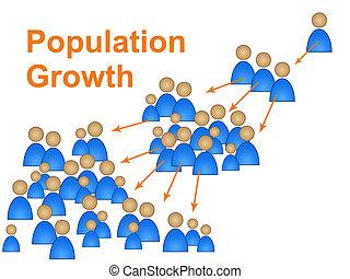 famiglia, crescita, prevedere, riproduzione, popolazione, mostra