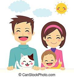 famiglia felice, carino