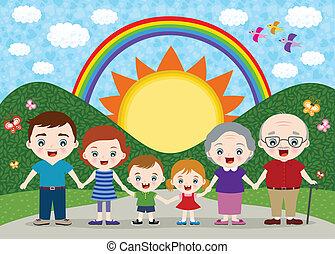 famiglia, illustrazione