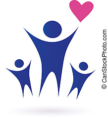 famiglia, salute, comunità, icone