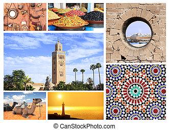 famoso, locali, marocco