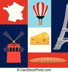 famoso, monumenti, francia