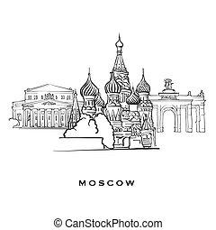 famoso, mosca, russia, architettura